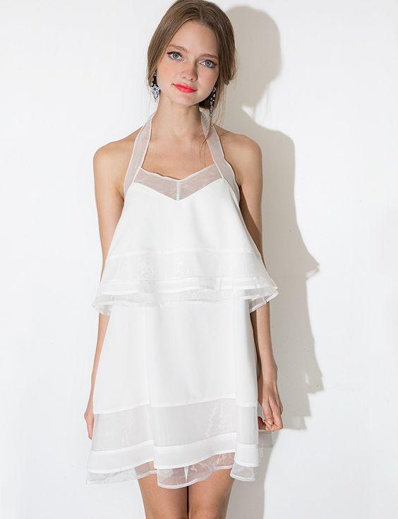 J.O.A White Organza Tiered Dress - Pixie Market - $62- orig ...