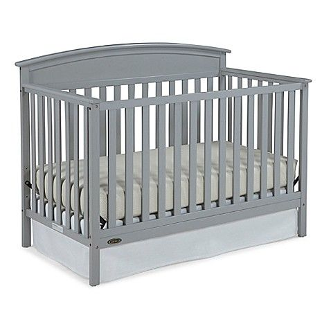 Graco Benton 4 In 1 Convertible Crib In Pebble Grey Baby Cribs Convertible Best Baby Cribs Grey Crib