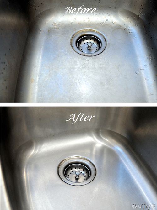how to clean stainless steel sink with baking soda