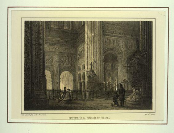 Interior de la Catedral de Córdoba (1855)