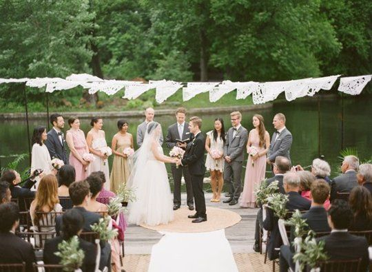 Wedding ceremony without bridal party