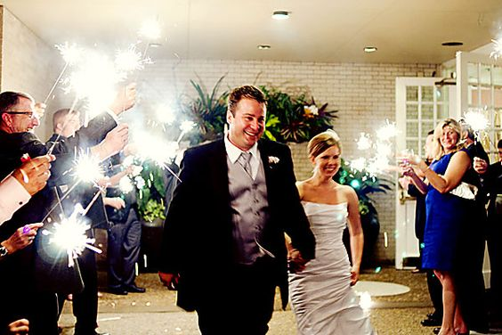 Sparklers instead of rice as you exit! So fun for guests