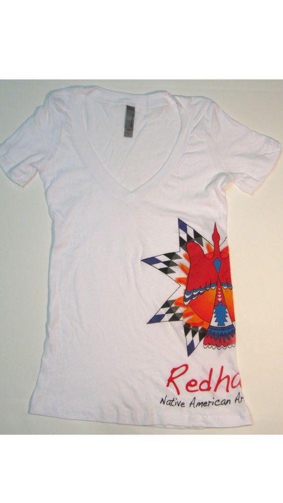 Redhawk Native American Arts Council Logo VNeck by RedhawkCouncil