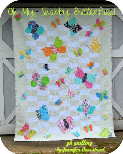 Free Bed Quilt Patterns For Beginners : Butterflies, Gable house and Shabby on Pinterest