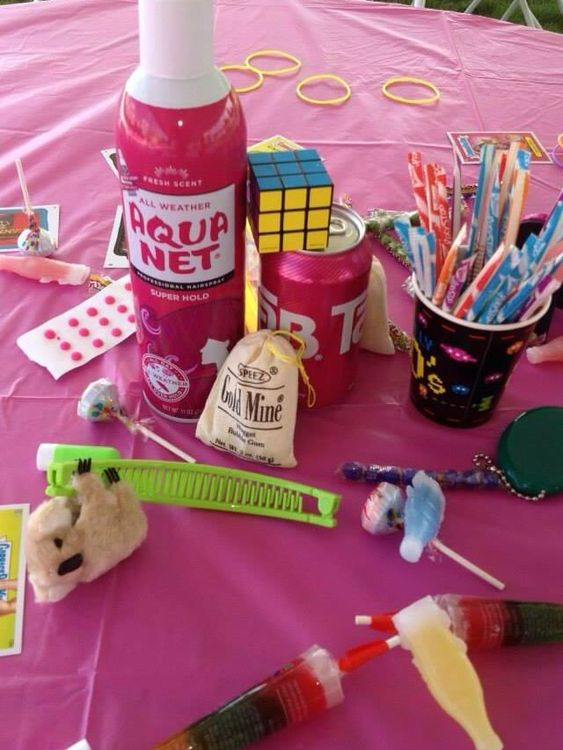 80s table decorations via tickledwhite class reunions for 80 birthday party decoration ideas