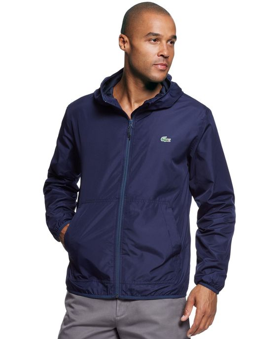 Lacoste Lightweight Nylon Full-Zip Jacket | Products | Pinterest