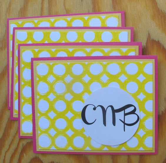 Personalized Stationery makes a great gift! I can custom make this with any color combo you need and add a name or monogram. Works great for: kiddos, coworkers, loved ones- who doesn't need a set of nice stationery to keep on hand and write a note?