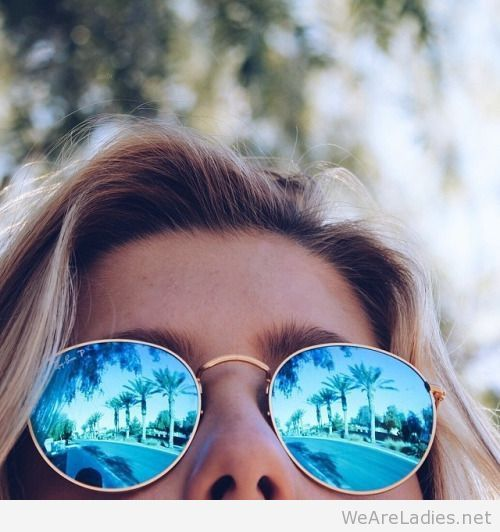 ray ban round blue mirror sunglasses
