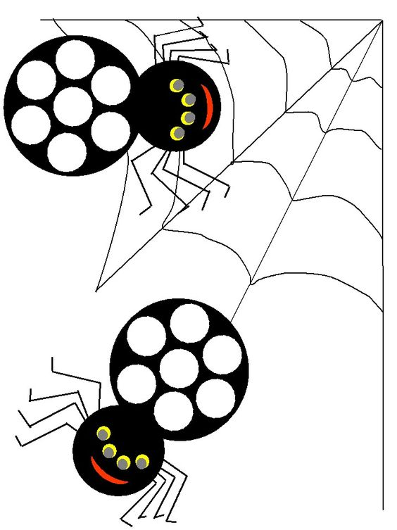 Spiders themed Bingo Dauber Coloring Pages Use bingo
