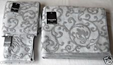 Tahari Home Finest Luxury Collection Gray Cotton Velour