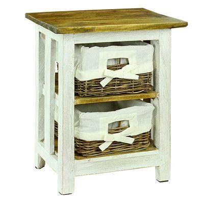 Antique Revival Nina 2 Basket Drawer Nightstand