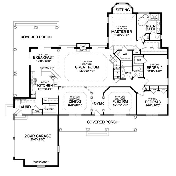Kitchen Laundry Floor Plans: DELAFIELD II House Plan....would Get Rid Of The Covered