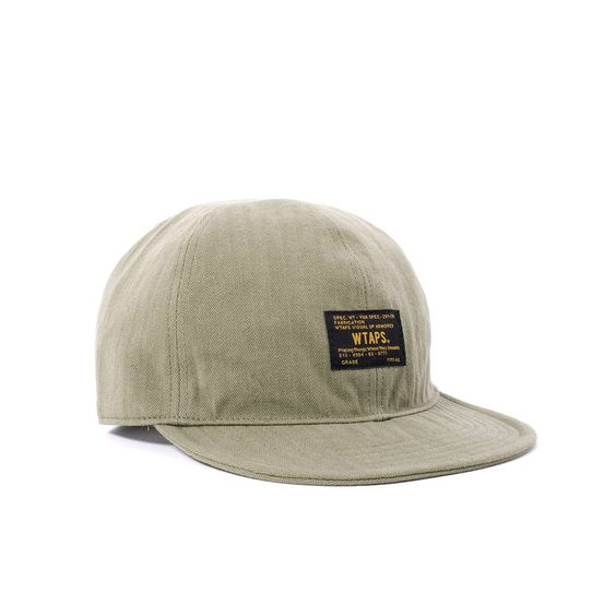 Classic Wtaps Wtaps A-3 Cap 01 featuring premium cotton herringbone weave construction, woven label at the front, plus classic leather strapback plus brass buckle closure. Placing things where they should be.