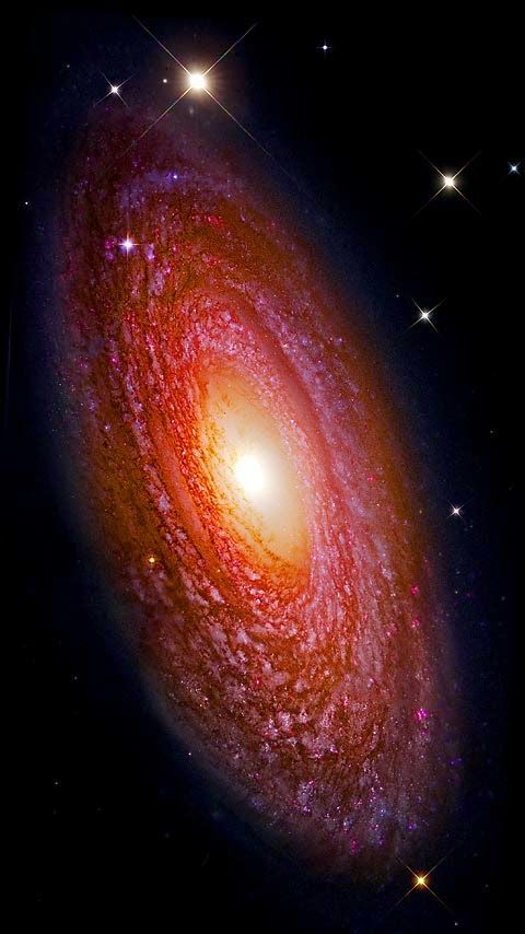 The Andromeda Galaxy . also known as Messier 31 , M 31 , or NGC 224 , is spiral galaxy approximately , 780 kiloparsecs  , 2.5 , million light years , from Earth . It is the nearest major galaxy to the Milky Way and was often referred to as the Great Andromeda Nebula in older texts . name from the area of the sky in which it appears , the constellation of Andromeda which was named after the mythological princess Andromeda Being approximately 220,000 light years across