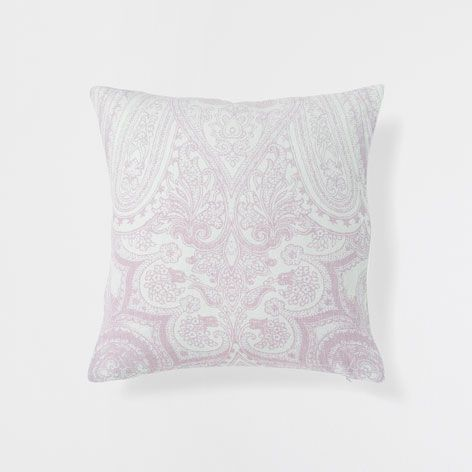 Washed pink coarse linen cushion - Decorative Pillows - Decor and pillows | Zara Home United States