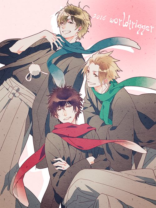 World Trigger Jin, Tachikawa, and Kageura