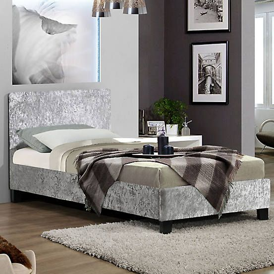 Berlin Crushed Velvet Upholstered Bed Frame By Birlea Velvet