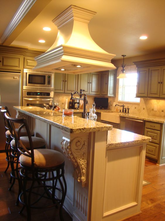 Custom Kitchen , Venthood Over The Island. Check My