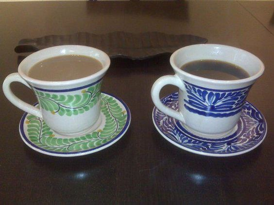 Two ceramic mugs by Gorky Gonzalez (circa 2010). Classic style that still looks great! Thanks Gillian for your photo; find out more here about how we're celebrating 4 years at Emilia Ceramics: http://blog.emiliaceramics.com/2012/08/04/celebrate-our-4th-anniversary-with-15-off-everything/