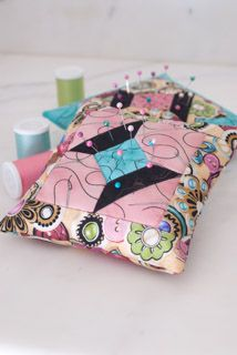 Pin cushions featuring Mrs. Sew & Sew by Dan Morris