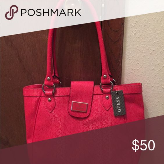 GUESS Handbag Rosy in color and has a zippered pocket in the inside. And a pocket for cell phone and two extra little pockets. Otherwise is it band new with tags on. GUESS Bags Shoulder Bags