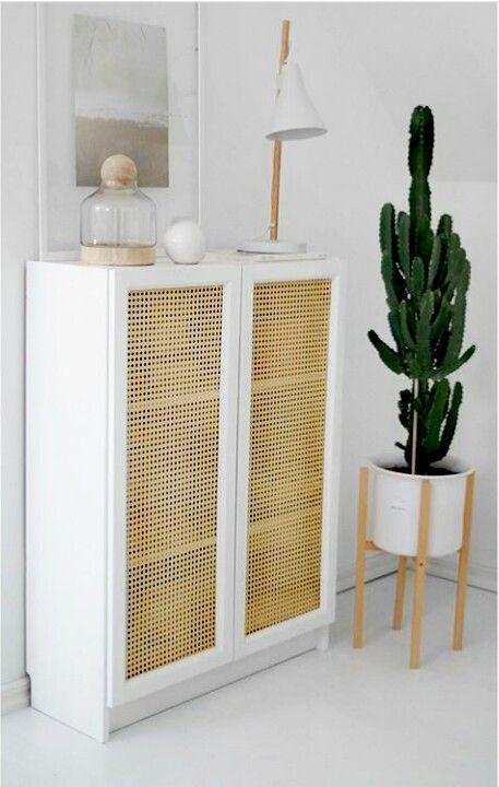 Ikea Billy Bookcase White Hack Diy Door Cannage Billy Bucherregal Wohnen Ikea Ideen