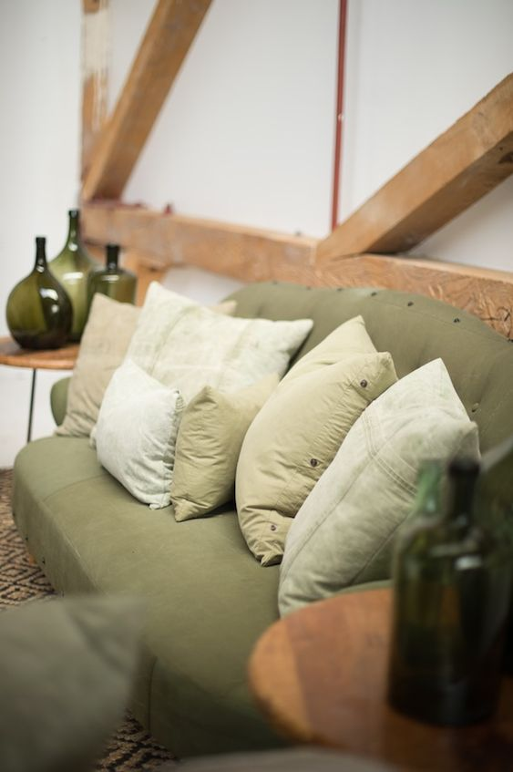 Found Vintage Rentals | Color Theory GREEN  #green #colortheory #pillows #couch #vintage #vintagerentals #specialtyrentals