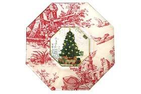 Christmas toile china.