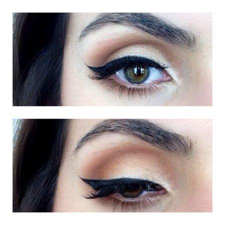 Neutral Glam Eyes #wingedliner #makeup #eyemakeup - See more on bellashoot.com & Beauty App