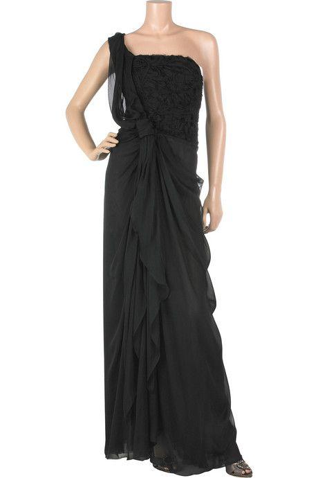 Alberta Ferretti Asymmetric Silk Full-length Gown