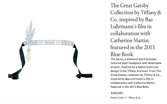 """Tiffany & Co. jewelry inspired by and for the movie """"The Great Gatsby"""""""