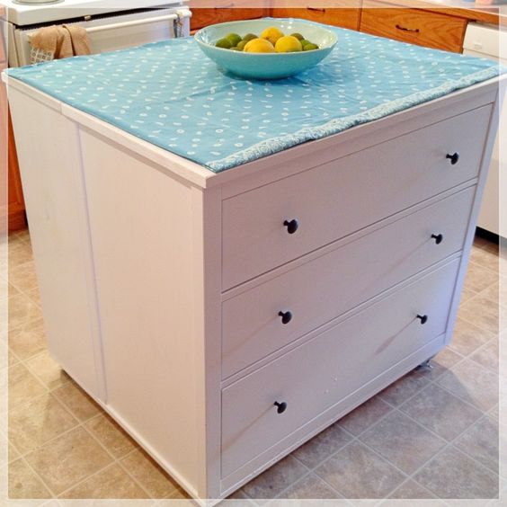 Ikea Mandal Storage Bed Review ~ IKEA hack  Kitchen Island built from a dresser and shelves