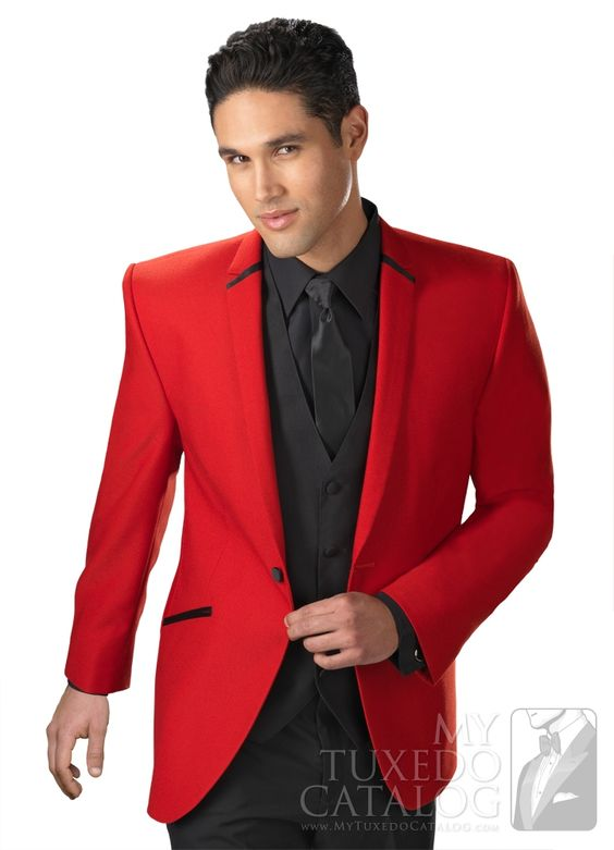 Red 'Illusion' Tuxedo from MyTuxedoCatalog.com | Prom Tuxedos