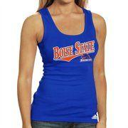 #fanaticsSummerWishlsit adidas Boise State Broncos Ladies Royal Blue Long Rib Tank Top