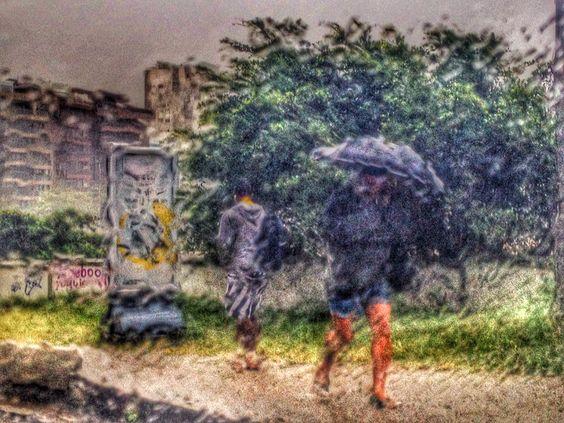 Impressões. Na chuva. Leblon- Rio de Janeiro Foto by Fernanda Vasconcelos
