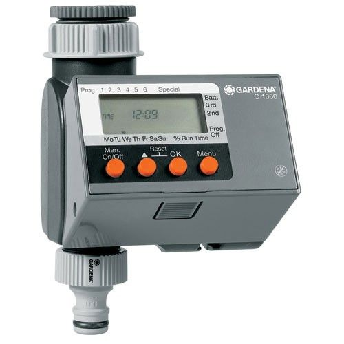 Gardena Electronic Six Cycle Water Timer With Images Irrigation Timer Gardena Water Timer