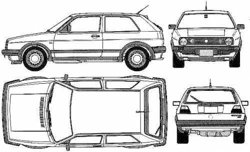 Volkswagen Golf Gti 16v 1988 Volkswagen Golf Mk2 Volkswagen Golf Golf Gti