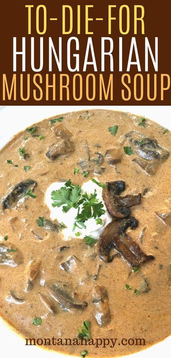 To-Die-For Hungarian Mushroom Soup