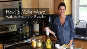 Video: How To Make Mayo With An Immersion Blender - This is easy to make but I don't like the sweetness the honey adds to this so will leave it out next time plus I would either sub dry mustard for the dijon or leave it out altogether also. Most of those additions seem to make it taste to much like a salad dressing and not mayo  You can always add latter if you are going for a different taste.