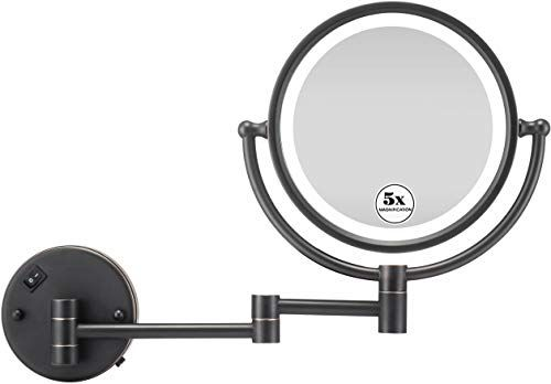 Amazing Offer On Gloriastar Makeup Mirror Wall Mount Led Lighted 5x Magnification Oil Rubbed Bronze Finish 8 Inch Online Top10ideas Wall Mounted Makeup Mirror Mirror Makeup Mirror