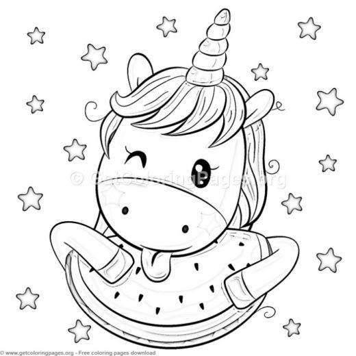 23 Cute Cartoon Unicorn Coloring Pages Getcoloringpages Org Con