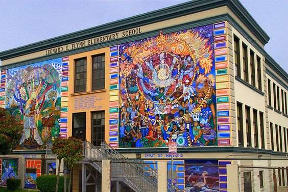 Leonard R Flynn Elementary School Mural Art Mural Art - Building in berlin gets transformed by amazing 137 foot tall starling mural