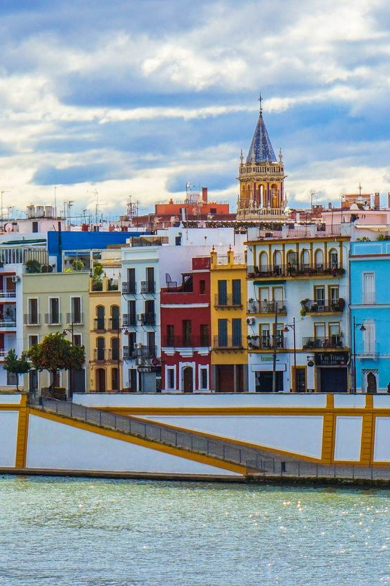 View of Calle Betis facing the Guadalquivir River © Brendan Sainsbury / Lonely Planet #travel #followyourcaprice