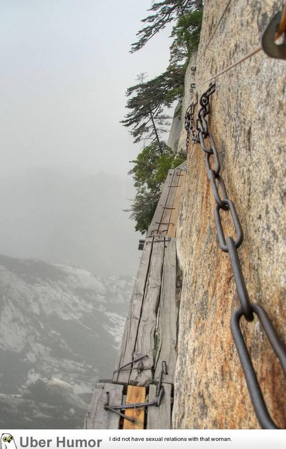 Huashan Insane Hiking Trail (7 Pictures)