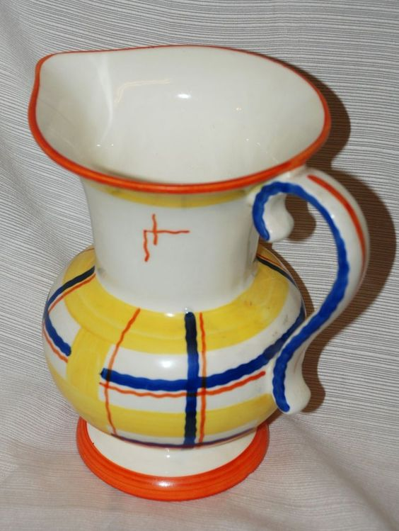 Czech Ceramic Hand Painted Pitcher