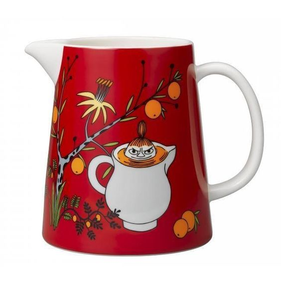 Redpitcher features Little My.Microwave, oven and dishwasher safe pitcher works perfectly also for example as a flower…