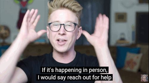 On shutting down bullying: | 14 Life Lessons We Learned From YouTube Star Tyler Oakley