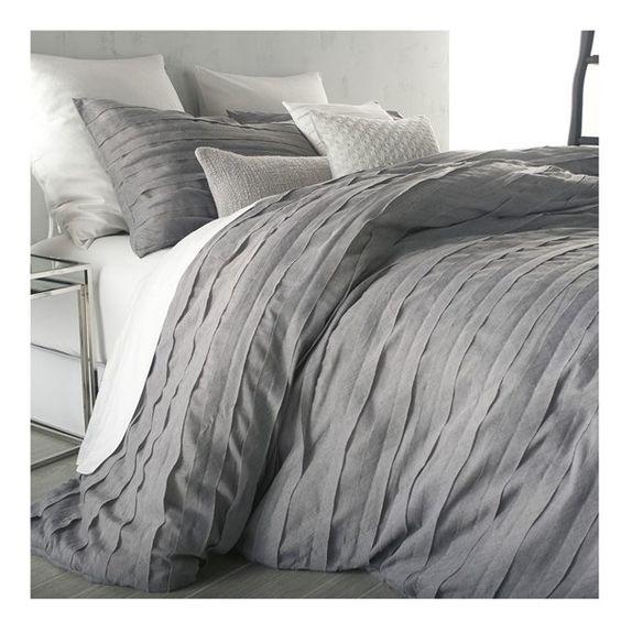Gray Duvet Cover King : Dkny loft stripe duvet cover ils liked on polyvore