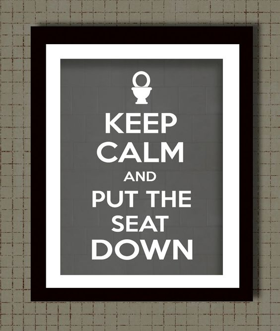 Keep calm bathroom wall and the o 39 jays on pinterest for Bathroom decor rules