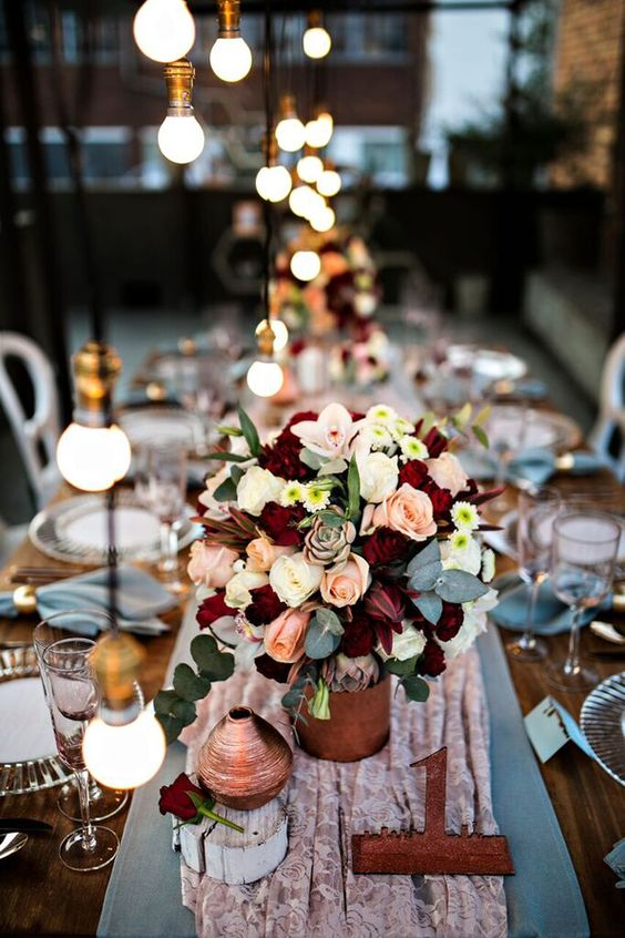 As we come to the end of our month of industrial chic, I couldn't resist slipping in one last lovely styled shoot with an urban theme, this time courtesy of fabulous SBB Directory member Blue…: